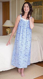 Women's Eileen West Blue Floral Ballet Nightgown