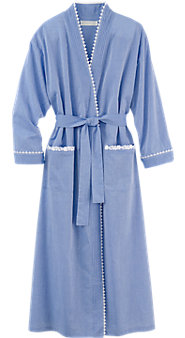 Women's Eileen West Chambray Ballet Wrap Robe