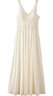 Womens Shadowline Silhouette Nylon Nightgown