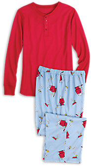 Mens Snoopy and Woodstock Pajamas