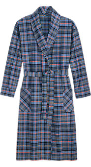 Mens Orton Plaid Wrap Robe