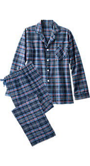 Orton Plaid Button Front Pajamas