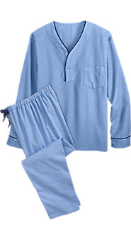 Mens Flannel Pullover Pajamas