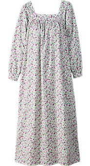 Womens Square Neck Portuguese Flannel Nightgown