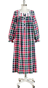 Women's Lanz Heart Dobby Flannel Nightgown