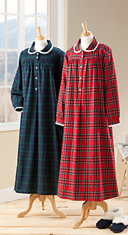 Womens Lanz Classic Flannel Nightgown