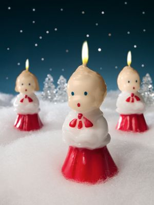 Classic Caroler Candles Pkg 3 Traditional Holiday Tapers
