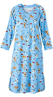 Dog Print Flannel Nightshirt
