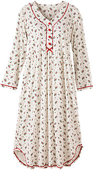 Holly Berry Cotton Knit Nightgown
