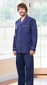 Cotton Broadcloth Button Front Pajamas