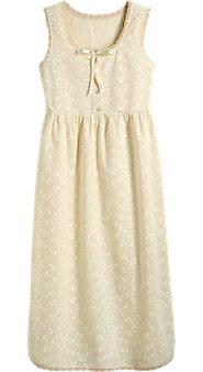 Womens Printed Muslin Nightgown