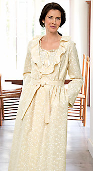 Womens Printed Muslin Robe