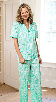 Womens Elegant Scroll Pajamas