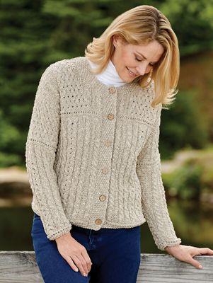 Irish Lightweight Cotton Linen Blend Sweater For Women