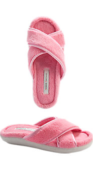 Womens Crossover Terry Comfort Slipper