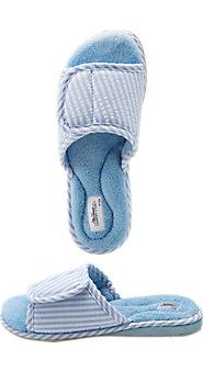 Womens Adjustable Seersucker Slippers