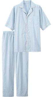 Men's Percale Button Front Pajamas
