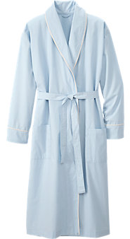 Men's Percale Wrap Robe