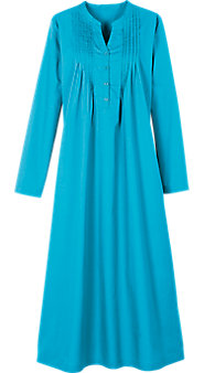 Womens Pintuck Broadcloth Gown
