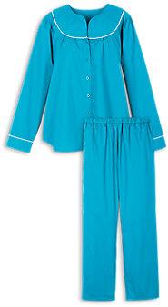 Womens Split Neck Broadcloth Pajamas