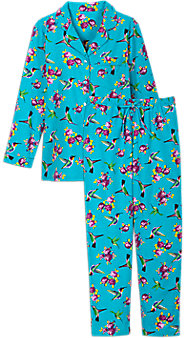Womens Flannel Hummingbird Pajamas