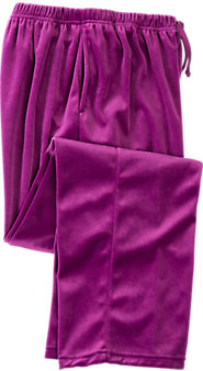 Womens Velour Sleep Pants