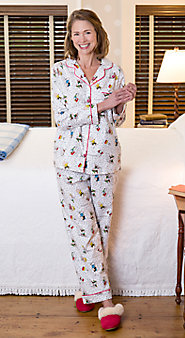Womens Peanuts Snow Fun Pajamas