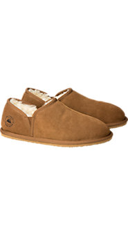 Mens Shearling Double Gore Slippers