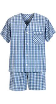 Men's Madras Shortie Pajamas