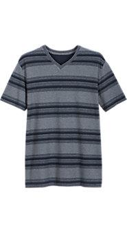Mens Striped Cotton Pique Sleepshirt