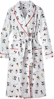 Peanuts Snow Fun Wrap Robe