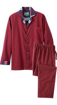 Mens Portuguese Chamois Button Front Pajamas