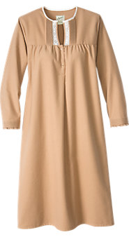 Womens Portuguese Cotton Chamois Nightgown
