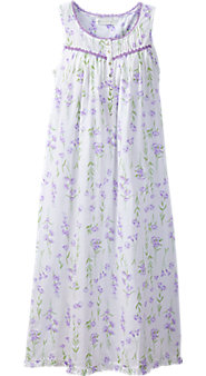 Eileen West Lavender Floral Nightgown