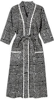 Womens Batik Printed Robe