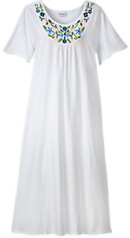 Womens Embroidered Nightgown