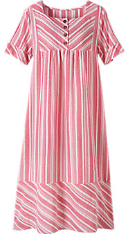 Square Neck Cotton Nightgown