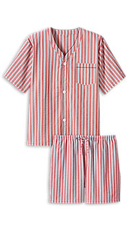 Mens Seersucker Shortie Pajamas