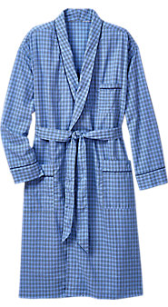 Madras Plaid Robe