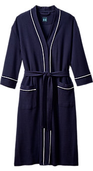 Waffle Weave Knit Kimono Robe