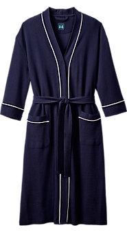 Mens Waffle Weave Knit Kimono Robe