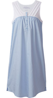 Womens Broadcloth and Knit Nightgown