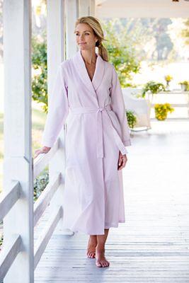 Womens Seersucker Wrap Robe Lightweight Bathrobe