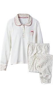 Womens Ditzy Floral Ski Pajamas