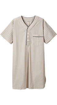 Mens Seersucker Nightshirt