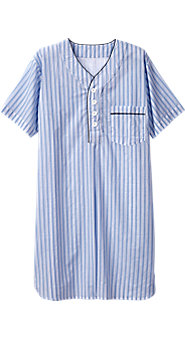 Mens Ultralight Cotton Voile Nightshirt