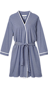 Womens Eileen West Summer Stripe Wrap Robe