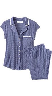 Womens Eileen West Summer Stripe Pajama