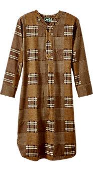 Pioneer Plaid Flannel Nightshirt
