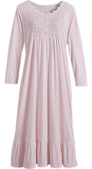 Embroidered Smocked Nightgown